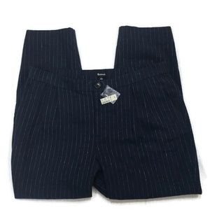 MADEWELL Navy Pinstripe Track Trouser pants-NWT!